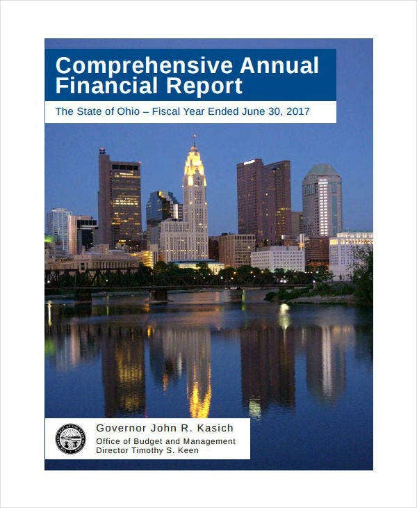 comprehensive annual financial report example