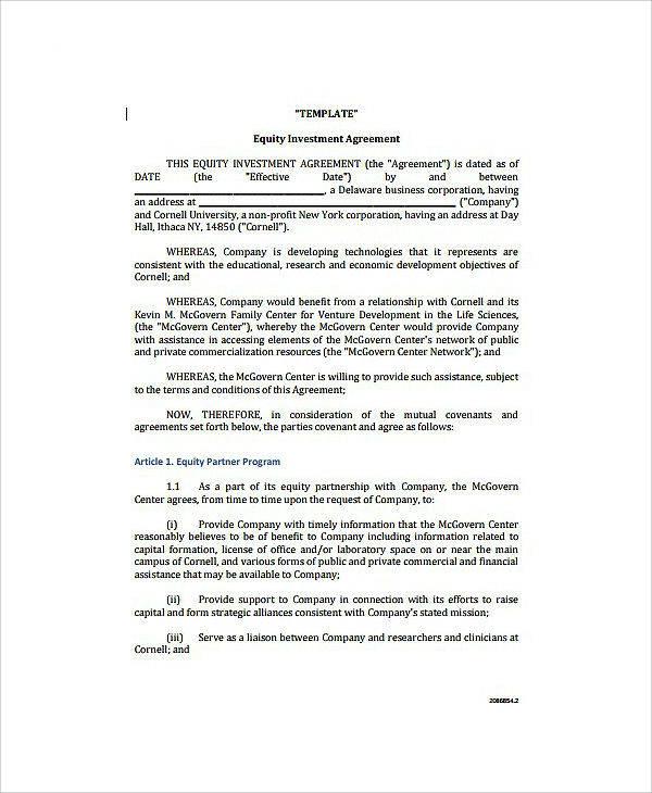 Comprehensive Venture Capital Agreement