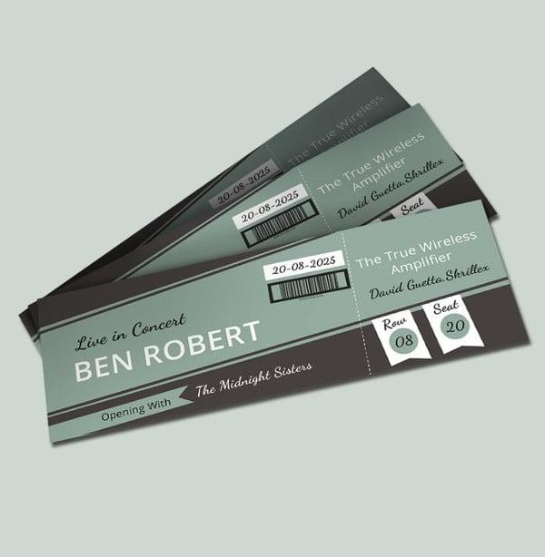 concert event ticket template