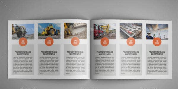 Construction Company A4 Catalog Template