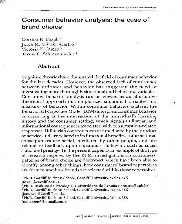 consumer behavior analysis 01