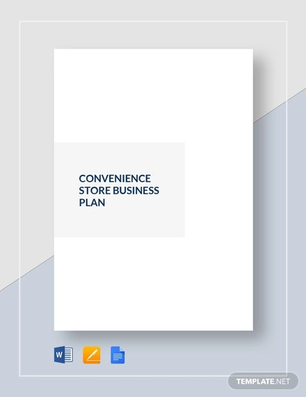 convenience store business plan template