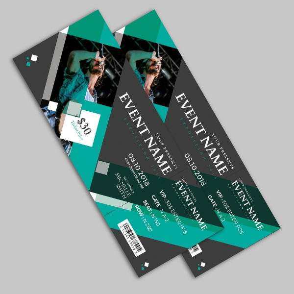Creative Concert Event Ticket Template