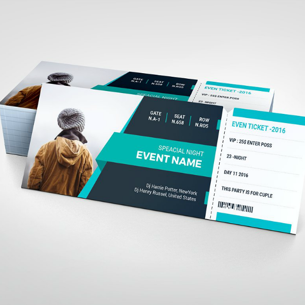 Creative DJ Party Ticket Template