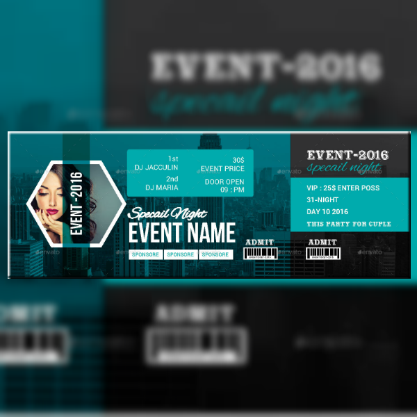 Creative Expo Event Ticket Template