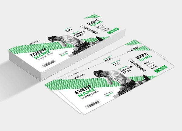 Creative Music Event Ticket Template