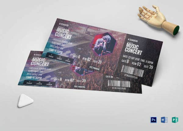 creative musical concert ticket