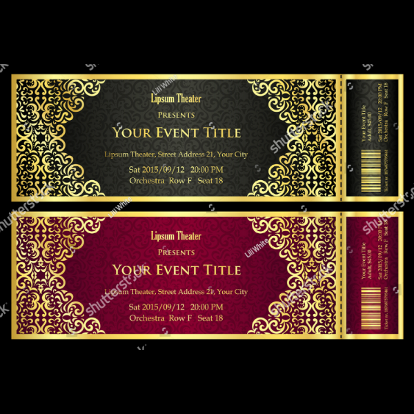 Creative Ornate Event Ticket Template