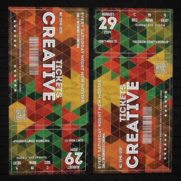 17 Creative Event Ticket Designs Templates Psd Ai