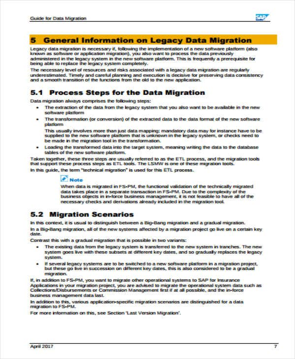 Data Migration Guide Plan
