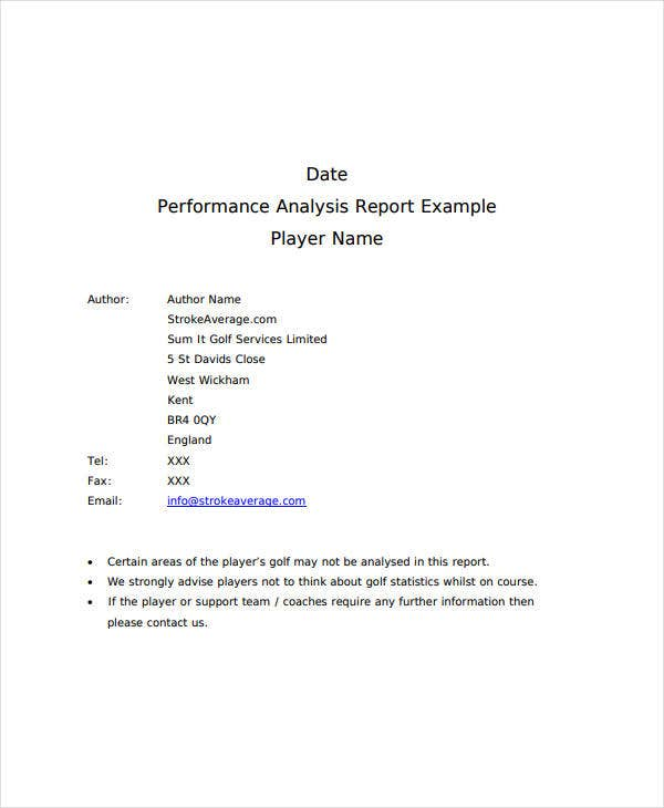 Data Performance Analysis Report