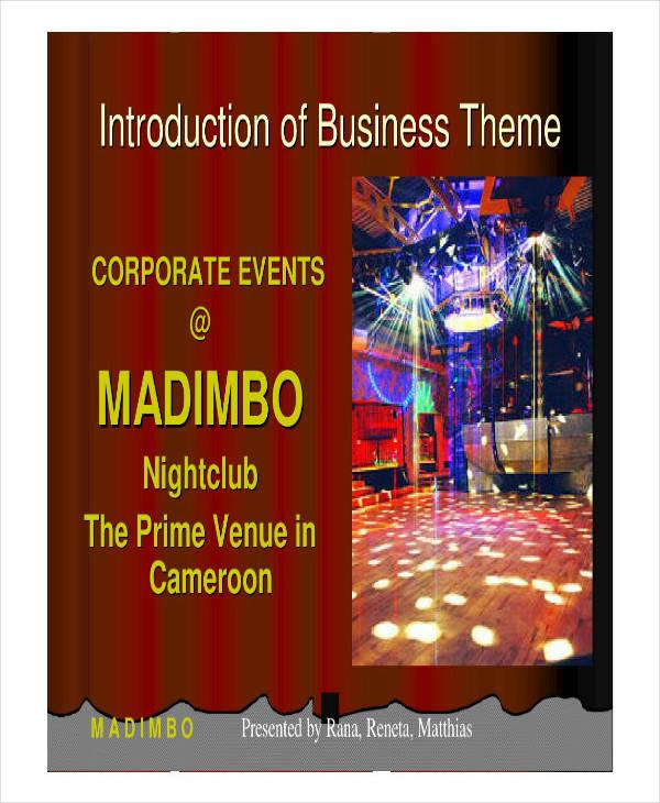 Example of Nightclub Business Plan