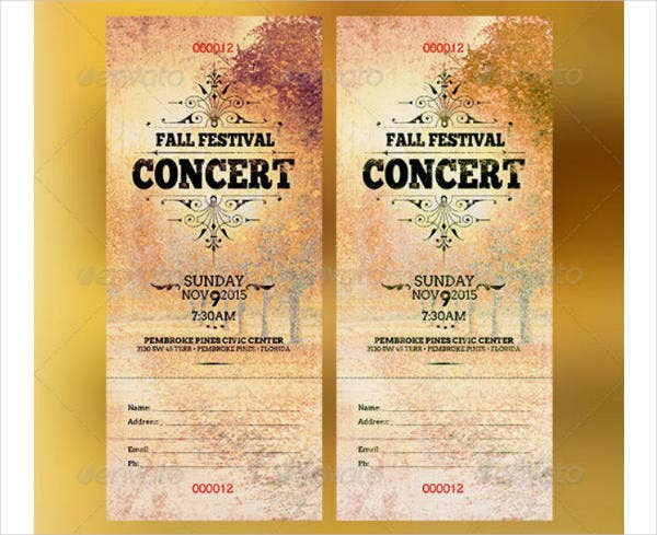 fall festival live music concert ticket