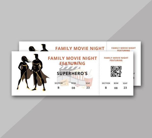 family-movie-night-ticket-template