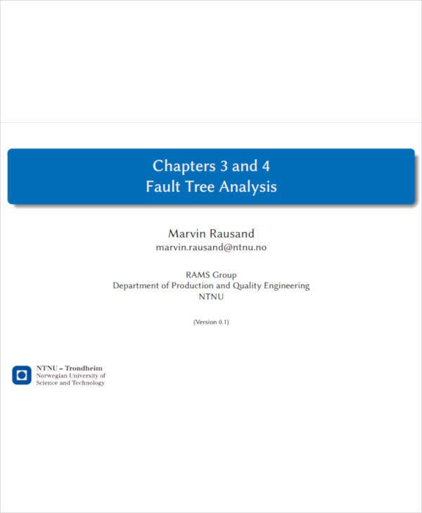 fault tree analysis sample
