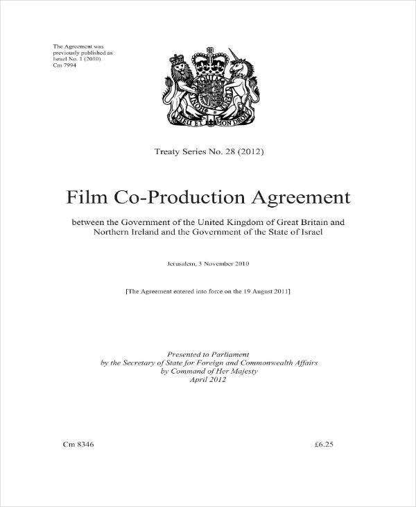 Film Co-Production Agreement Contract