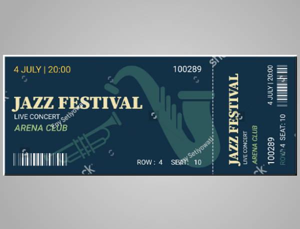 flat modern jazz ticket template