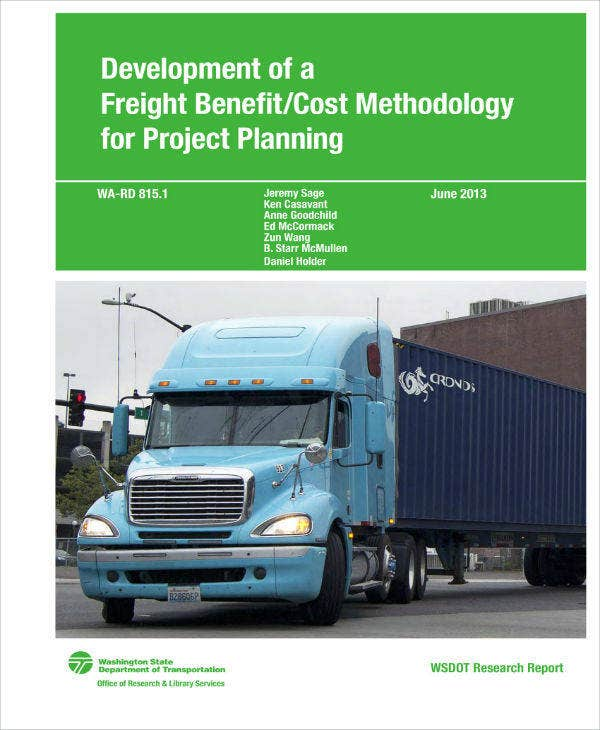 Freight Benefit Cost Methodology Analysis