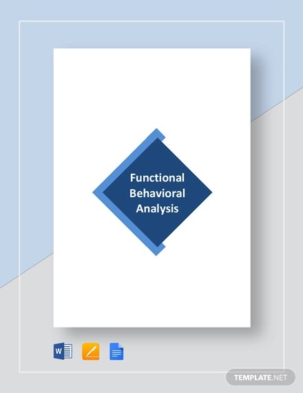 functional behavioral analysis template
