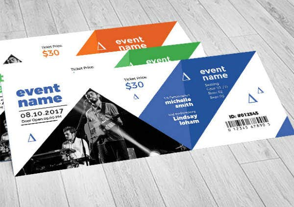 Geographic Event Ticket Template