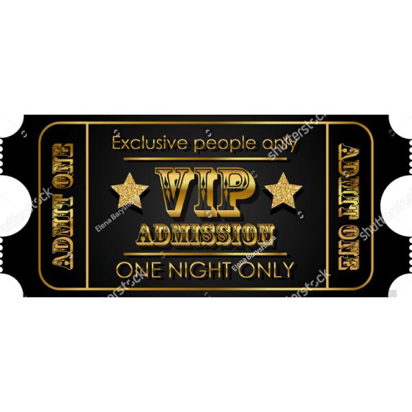 Golden VIP Event Ticket Template