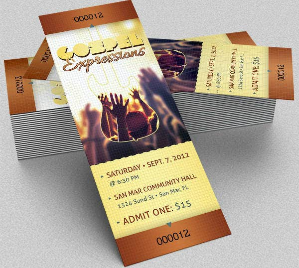 Gospel Musical Concert Ticket