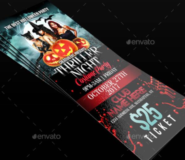 halloween night ticket template