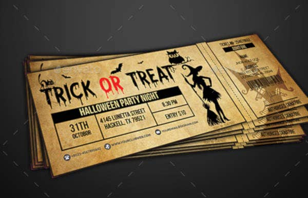 11 halloween party ticket designs templates psd ai indesign