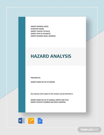 hazard analysis template1