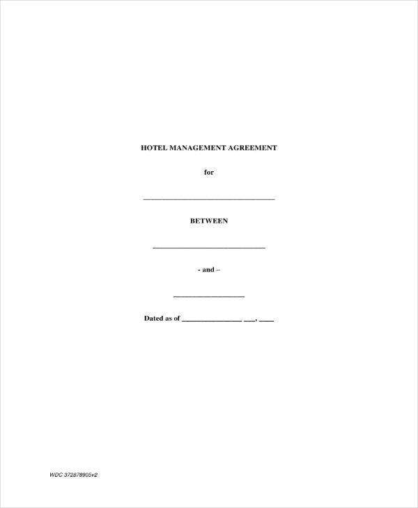 hotel management contract agreement