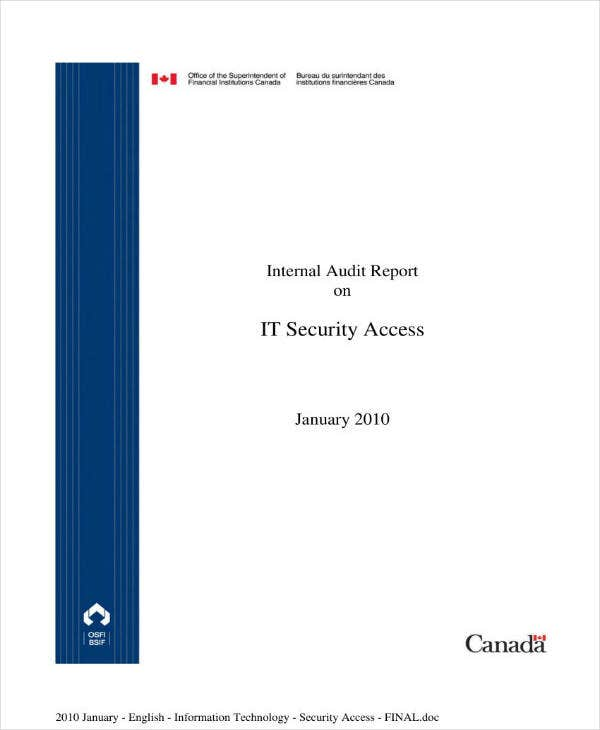 it audit report on security access