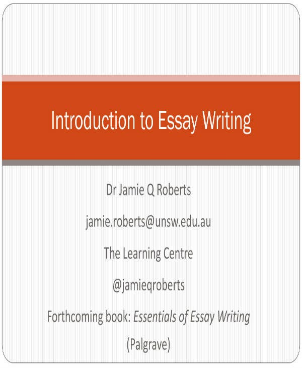 introduction to essay writing 001