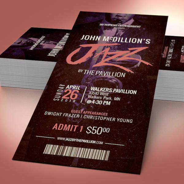 jazz festival ticket design