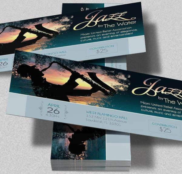 jazz festival ticket example