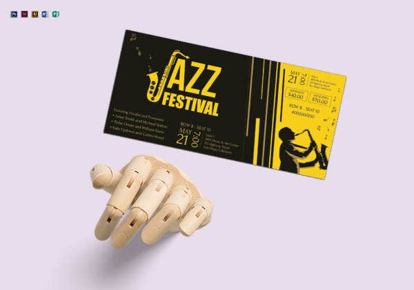 Jazz Festival Ticket Template