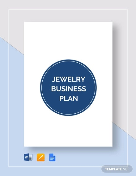 jewelry business plan template