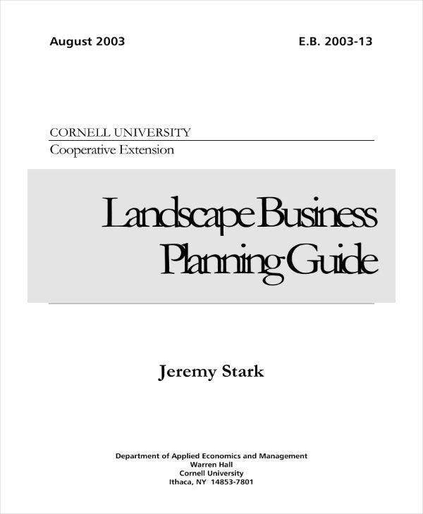 Landscape Business Planning Guide