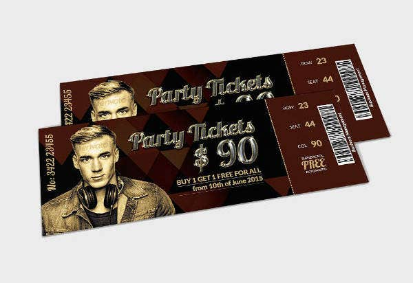live music concert pass and party ticket