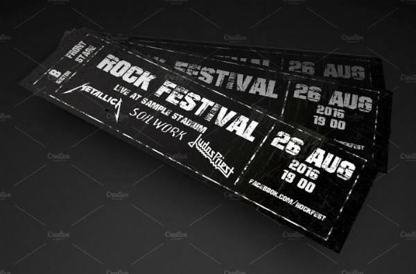 live rock festival concert ticket