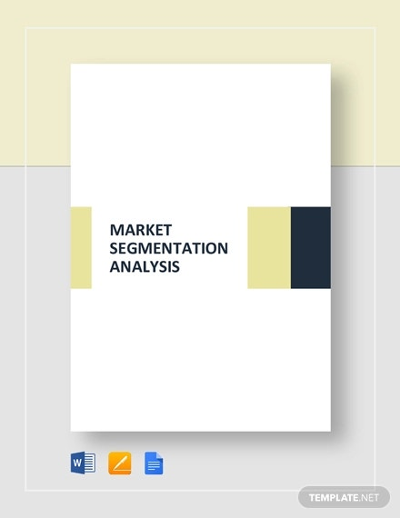 market segmentation analysis template1