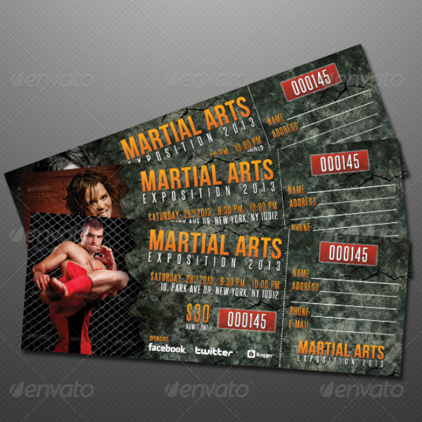 Martial Arts Event Ticket Template