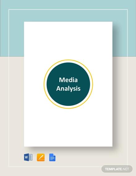 media analysis template