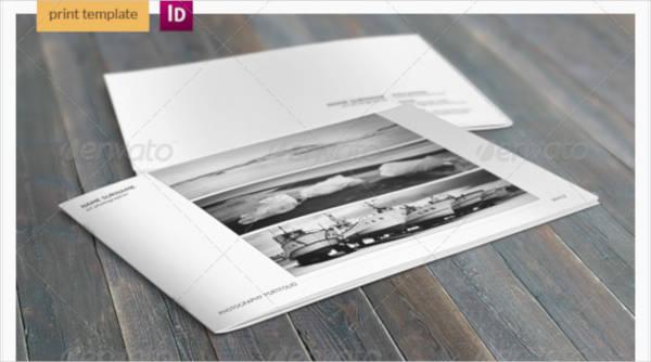 minimalist photography portfolio a4 catalog