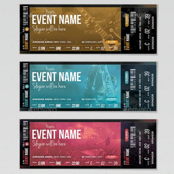 Modern Gospel Concert Ticket Template