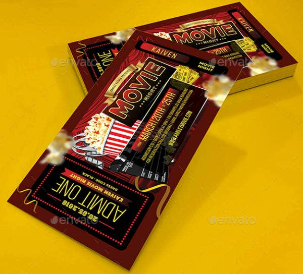 photo regarding Printable Movie Ticket Invitation named 16+ Video Ticket Invitation Plans Templates - PSD, AI