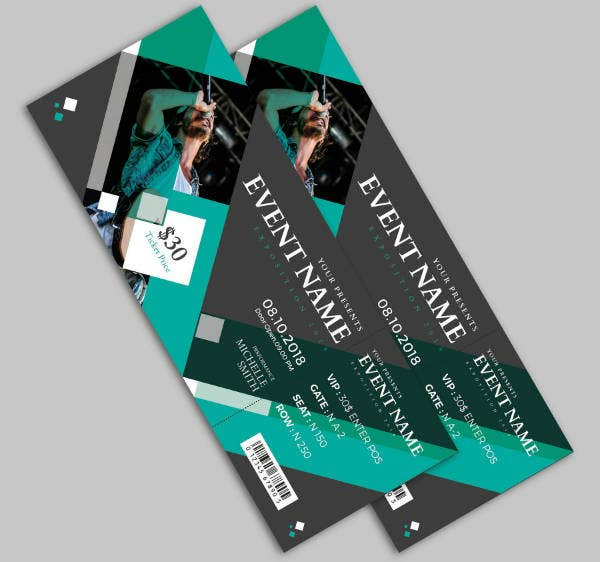 Modern Music Event Ticket Template