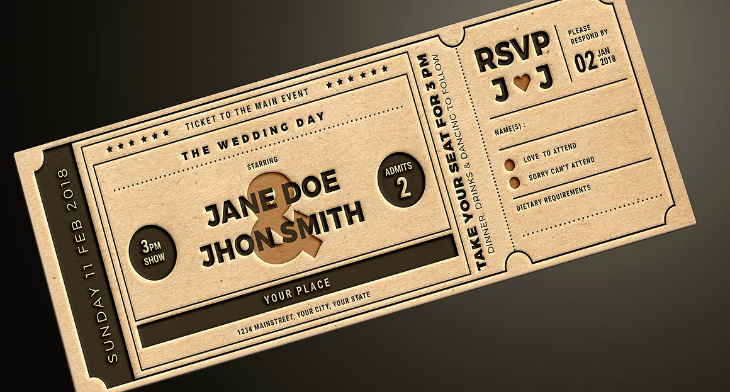 picture regarding Free Printable Movie Ticket Invitations called 16+ Online video Ticket Invitation Patterns Templates - PSD, AI