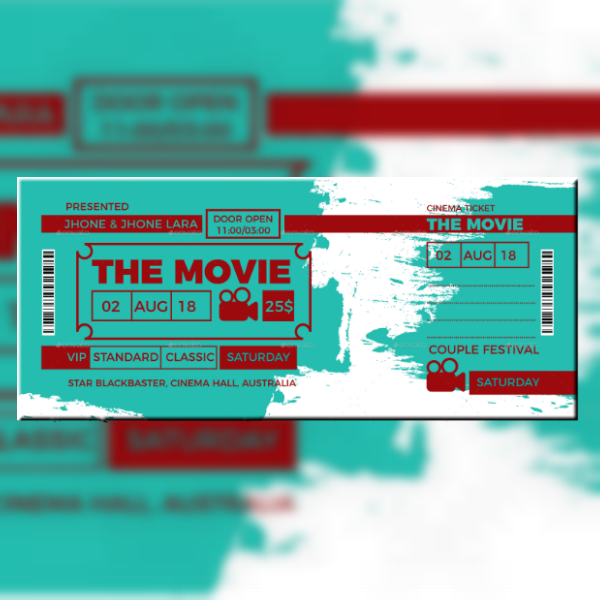 16  movie ticket invitation designs  u0026 templates