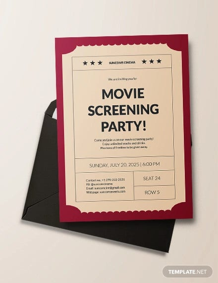 photograph about Printable Movie Ticket Invitation identify 16+ Online video Ticket Invitation Options Templates - PSD, AI