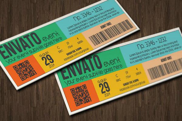 Multipurpose Retro Event Ticket